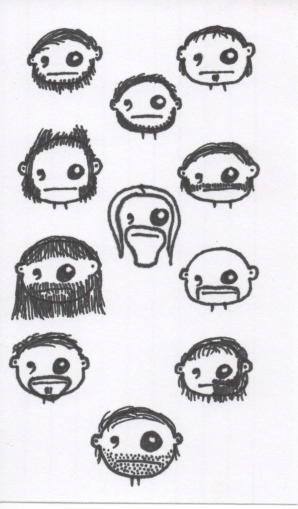 Moustache Week: Faces